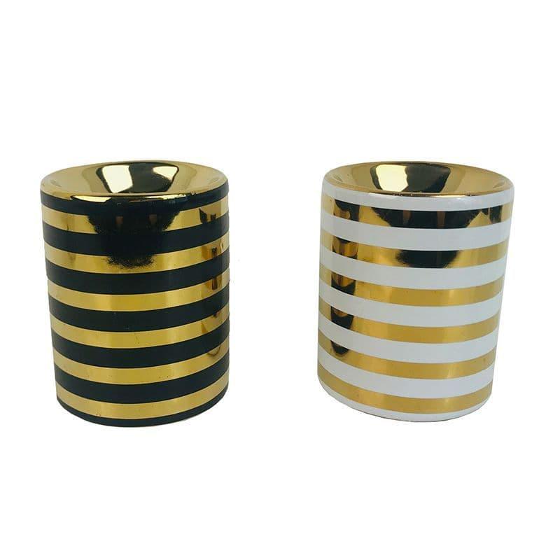Ceramic Metallic Gold Stripe Eden Oil Burner