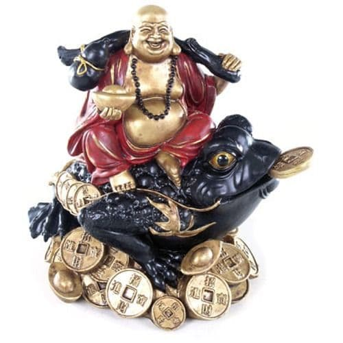 Chinese Buddha on Coins and Wealth Toad