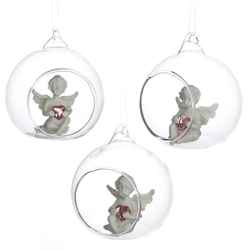 Collectable Peace of Heaven Cherub - Sweet Dream Glass Bauble