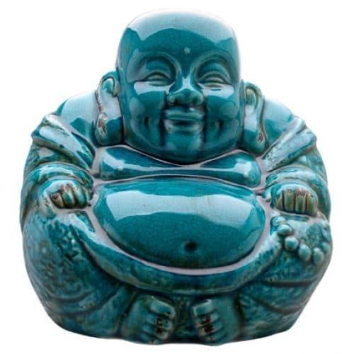 Extra Large Buddha - Crackle Blue
