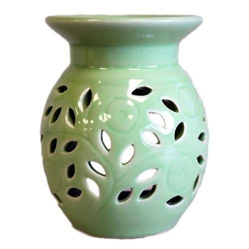 Floral Oil Burner - Lime