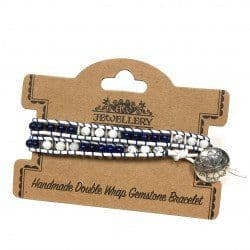 Gemstones Double Wrap Bracelets