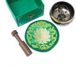 Green Tara Singing Bowl Set 10cm