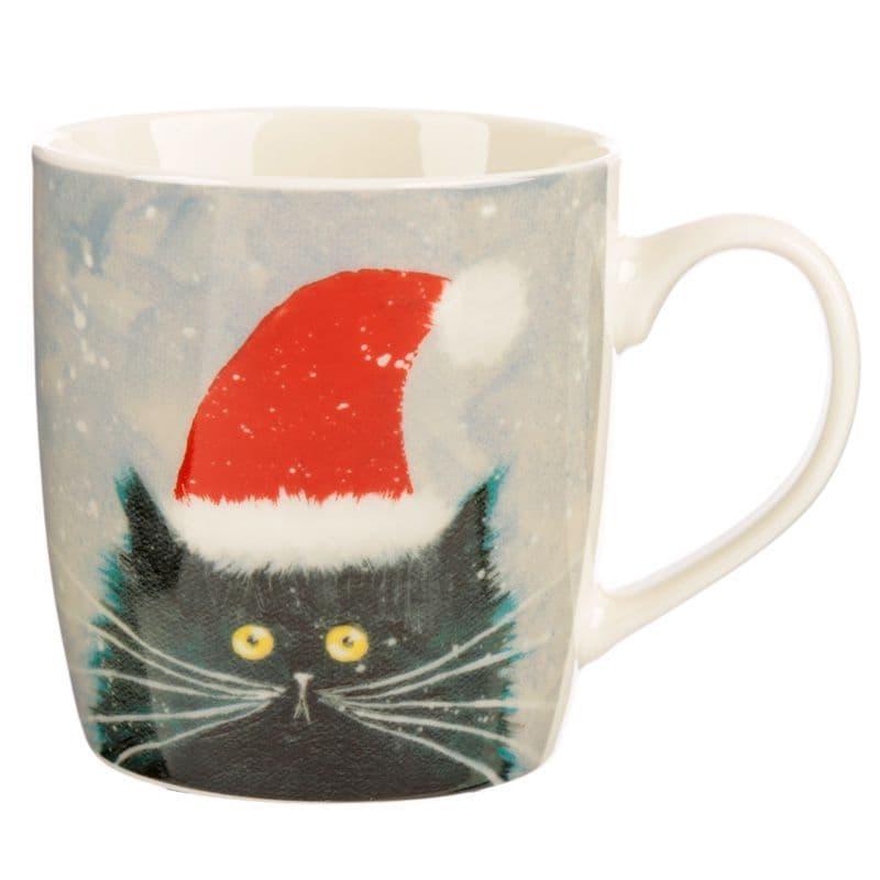 Kim Haskins Christmas CatNew Bone China Mug