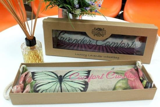 Luxury Lavender Wheat Bag in a Gift Box