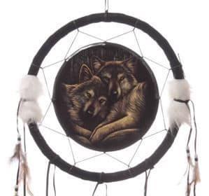 Loyal Companions Wolf Dreamcatcher by Lisa Parker