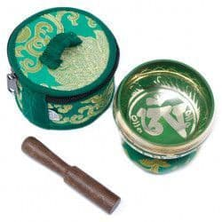 Mini Singing Bowl Gift Set - Green