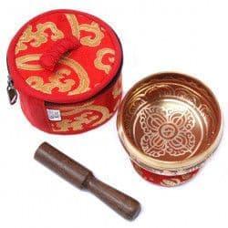 Mini Singing Bowl Gift Set - Red