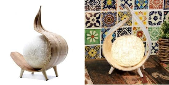 Natural Coconut Lamps