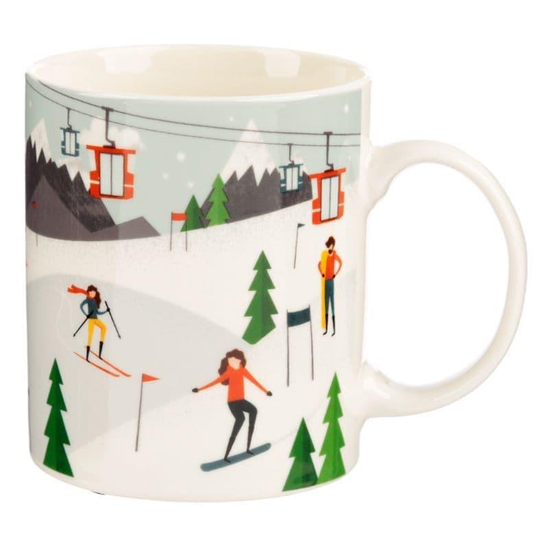 Peak Season Ski Design New Bone China Mug