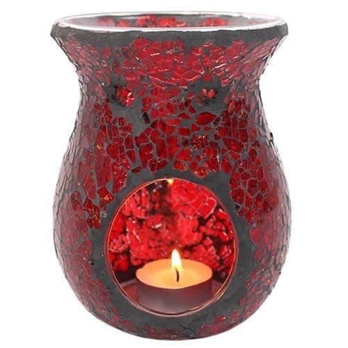 Red Mosaic Oil Burner Large