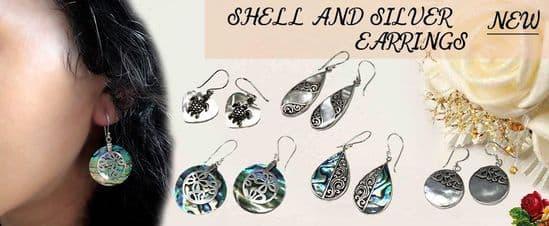 Shell & Silver Earrings