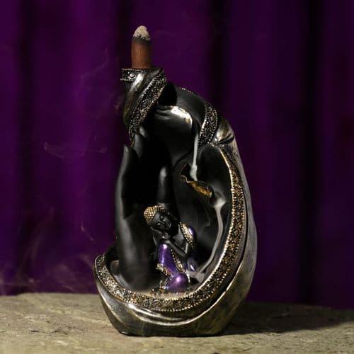 Thai Buddha in Hand Backflow Incense Burner