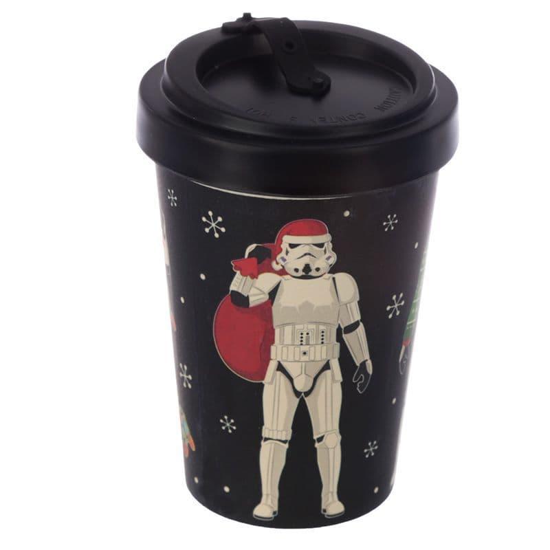 The Original Stormtrooper Christmas Black Screw Top Travel Mug