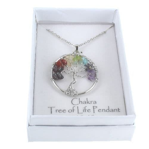 Tree of Life Chakra Pendant in Gift Box