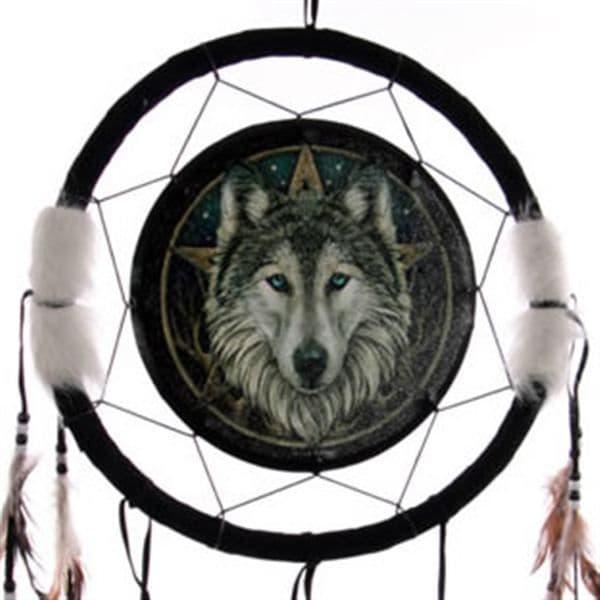 Wolf & Star Dreamcatcher Large by Lisa Parker
