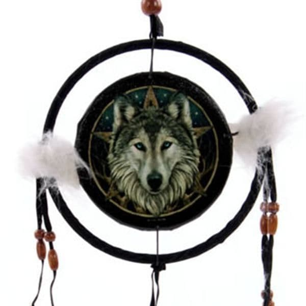 Wolf & Star Dreamcatcher - Small by Lisa Parker