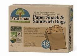 If You Care Paper Snack & Sandwich Bags x 48