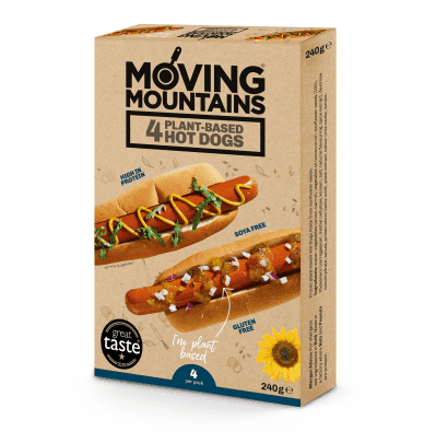 Moving Mountains Plant Based Hot Dogs x 4 - 240g