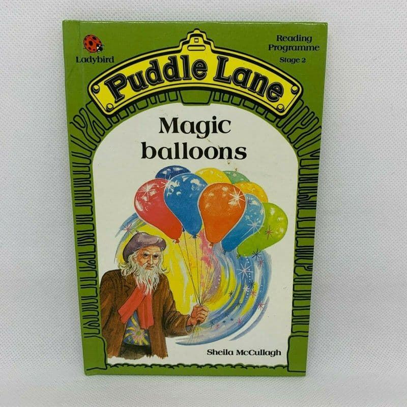 Ladybird Book PUDDLE LANE Magic Balloons - 1st Edition - Stage 2 - No.10