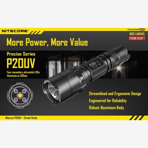 Nitecore P20 UV Ultraviolet Torch