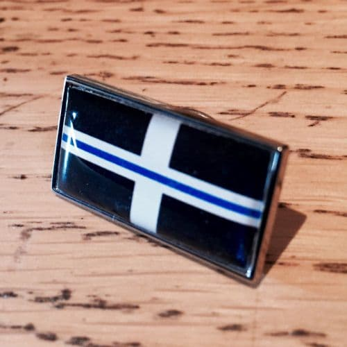 Thin Blue Line Cornwall Cornish Flag Police Pin Badge EL TBL07C Blue