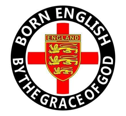 """Born English"" Round Rear Window Sticker"
