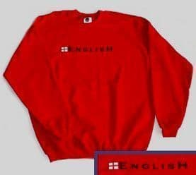 """English"" England Sweatshirt - Red"