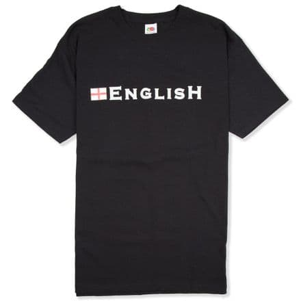 """English"" T-shirt - Black            ."
