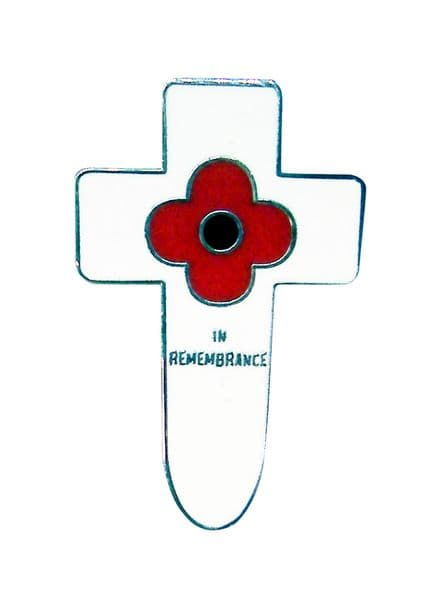 Cross and Poppy Lapel Badge