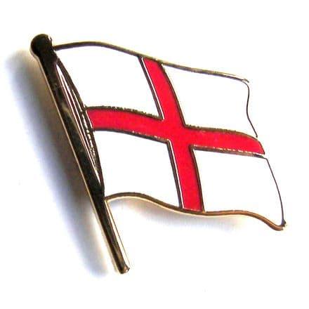 Cross of St George Flag England Lapel Badge