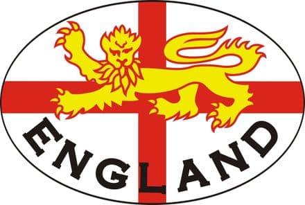 """England """"Lion"""" Car Bumper Sticker"""