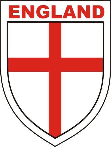 England Shield Car Window Sticker