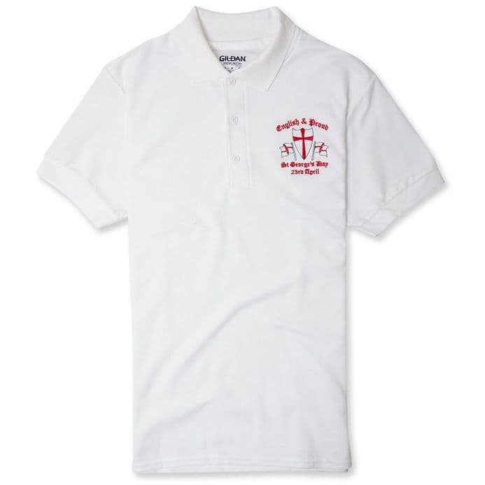 English and Proud England Polo Shirt - White