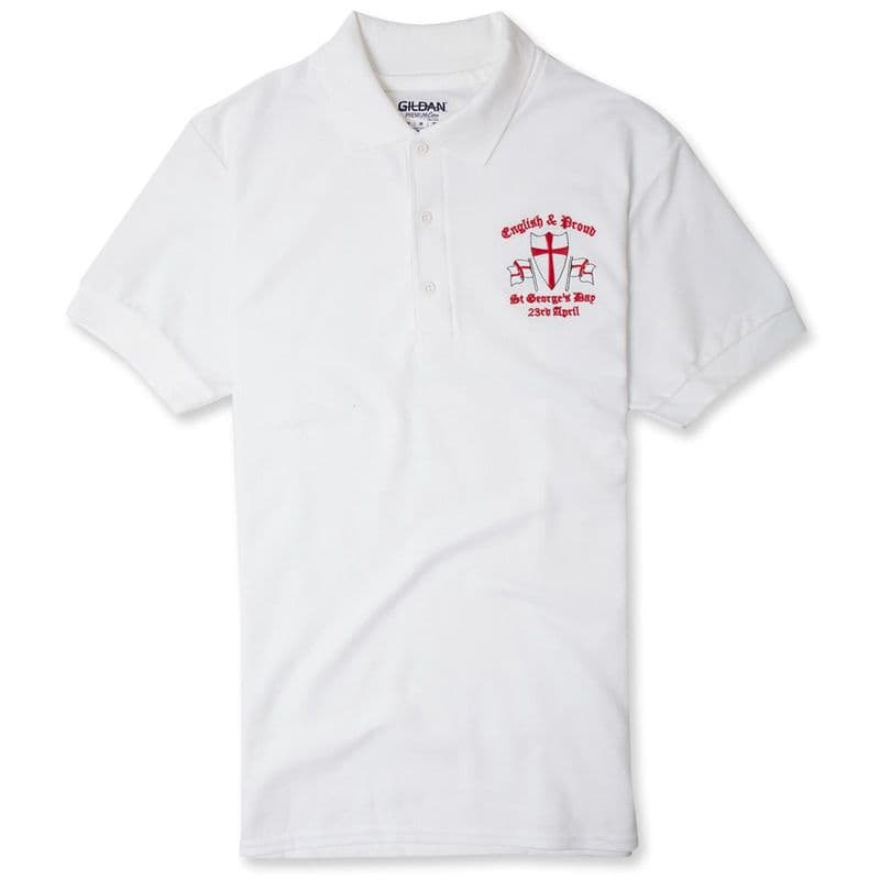 English and Proud England Polo Shirt - White