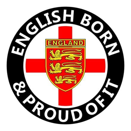 English Born Round England Car Sticker