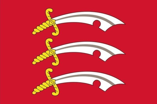 Official Essex County Flag - 5ft x 3ft polyester flag with metal eyelets