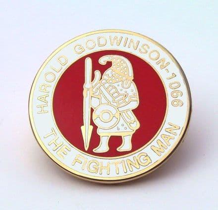 Harold Godwinson - The Fighting Man Lapel Badge - White