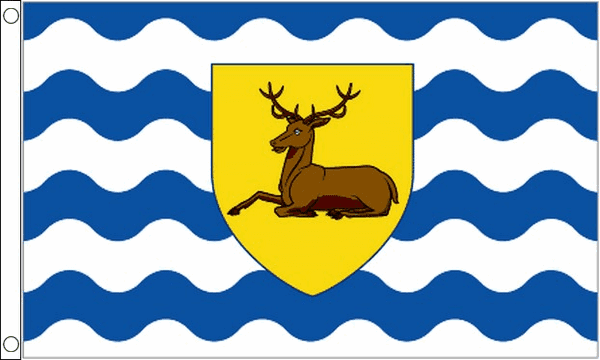 Official Hertfordshire County Flag - 5ft x 3ft polyester flag with metal eyelets