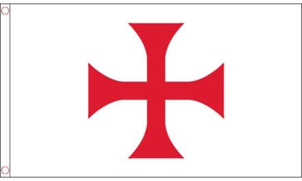 Knights Templar Red Cross Flag 5ft x 3ft