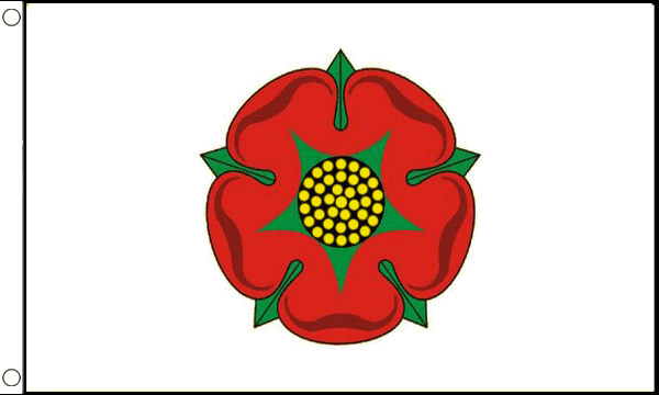 Lancashire County Flag - 5ft x 3ft polyester flag with metal eyelets