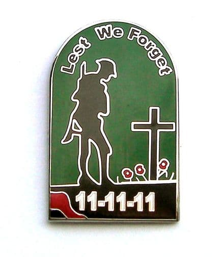 Lest We Forget Lapel Badge