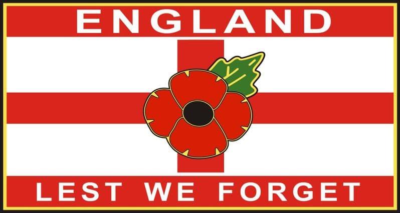 Poppy Car Window Sticker - St George England Lest We Forget