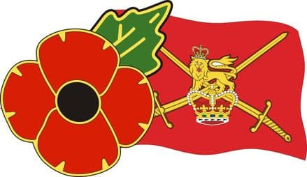 Poppy Lorry Sticker With British Army Flag