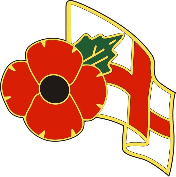 Poppy Sticker with England Flag for lorry, van, arctic