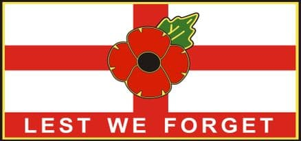 Poppy Lorry/Van Sticker - St George Lest We Forget