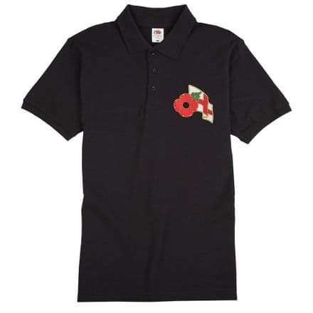 Poppy Polo Shirt with England Flag           .