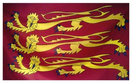 Richard The Lionheart Three Lions Flag