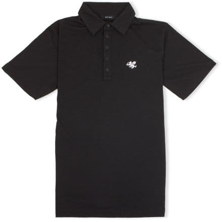 Senlak 5 Button Jersey Polo Shirt - Black