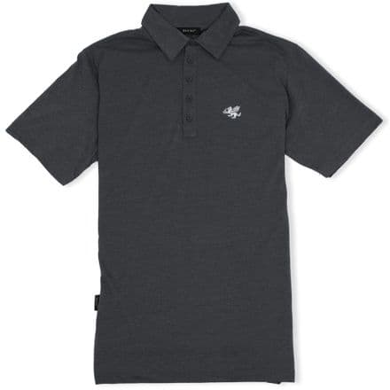 Senlak 5 Button Jersey Polo Shirt - Dark Grey Marl